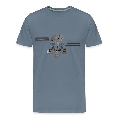 Gskull Gaming-logo front-text back - Men's Premium T-Shirt