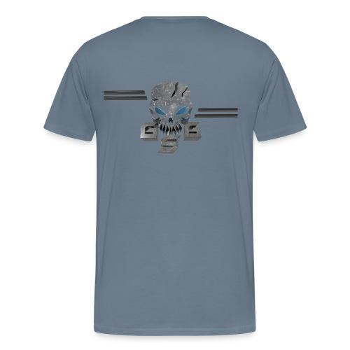Gskull Gaming-text front-logo back - Men's Premium T-Shirt