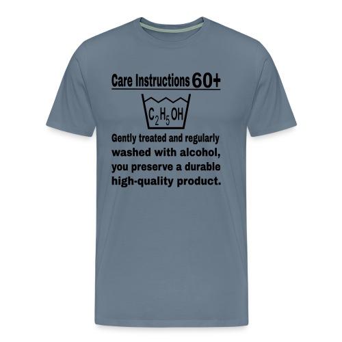 60 plus care instructions t-shirt - Men's Premium T-Shirt