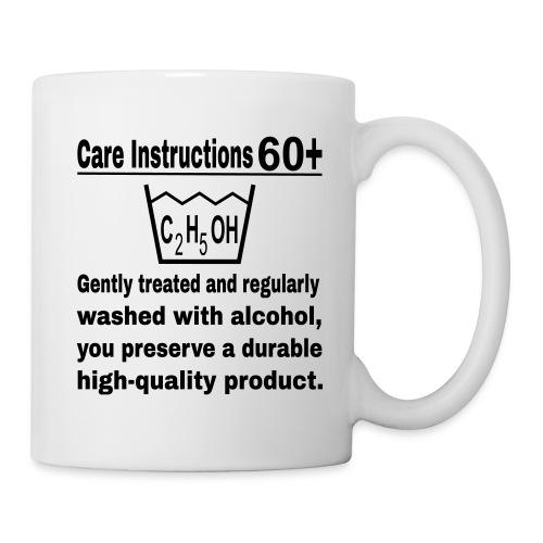 60 plus care instructions cup - Coffee/Tea Mug