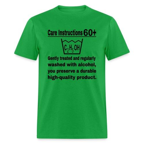 60 plus care instructions t-shirt - Men's T-Shirt