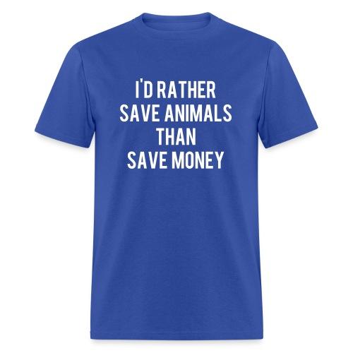 I'd rather save animals unisex - Men's T-Shirt