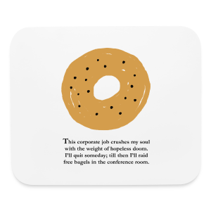 Bagel of Doom Mouse Pad - Mouse pad Horizontal