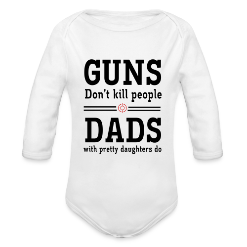 daddy's daughter - Organic Long Sleeve Baby Bodysuit