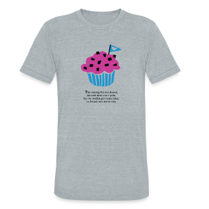 Muffin Status Tri-Blend Tee - Unisex Tri-Blend T-Shirt by American Apparel