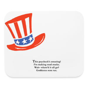 Uncle Sam Blues Mouse Pad - Mouse pad Horizontal