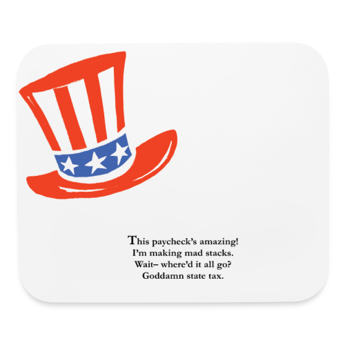 Uncle Sam Blues Mouse Pad - Mouse pad Horizontal