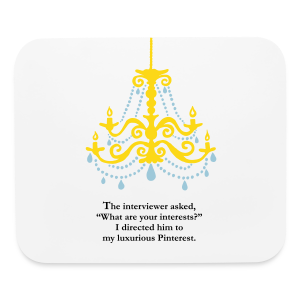 Luxurious Pinterest Mouse Pad - Mouse pad Horizontal