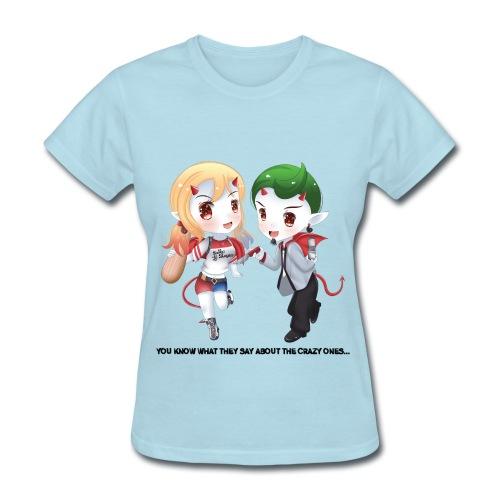 Joker Bill & Suzy Quinn Come Out To Play (light) - Women's T-Shirt