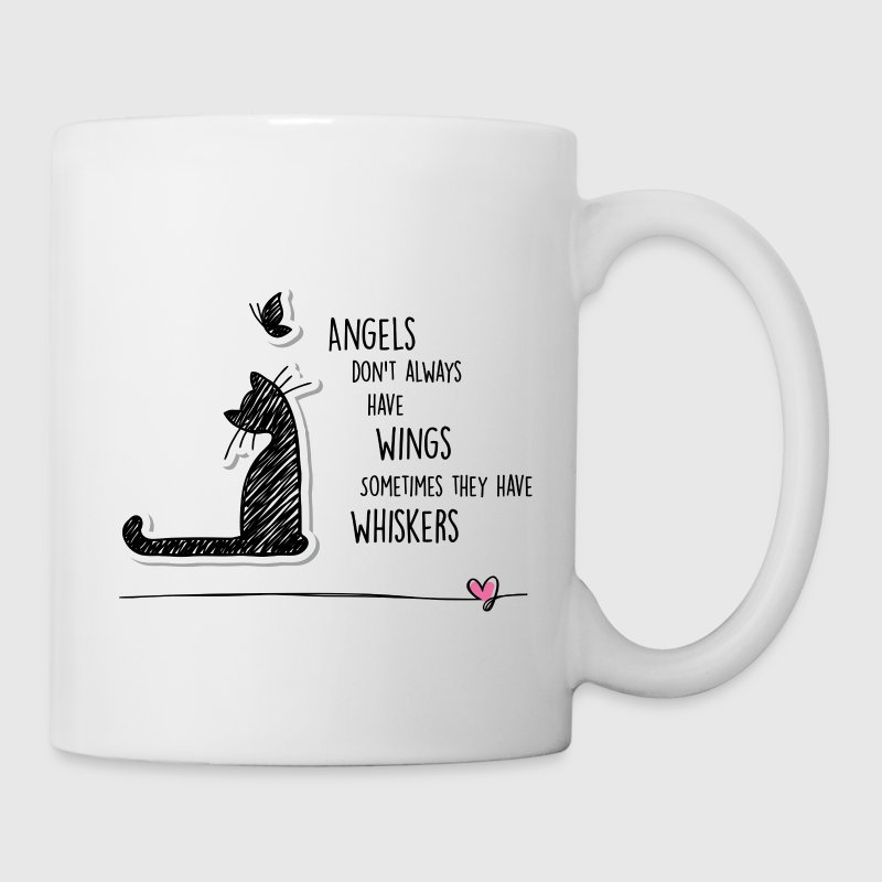 Cat Angel Mugs & Drinkware - Coffee/Tea Mug