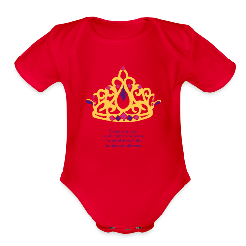 Daddy's Princess Baby One Piece - Organic Short Sleeve Baby Bodysuit