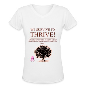 We Survive To Thrive Volume 1 V-Neck (Women) view color choices - Women's V-Neck T-Shirt