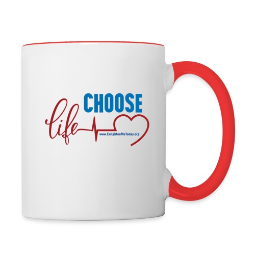 Choose Life Contrast Coffee Mug - Contrast Coffee Mug