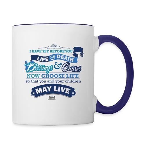 Deut 30-19 Contrast Coffee Mug - Contrast Coffee Mug
