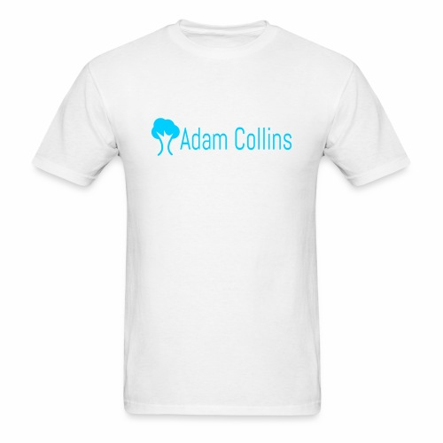 White Adam Collins Logo - Men's T-Shirt