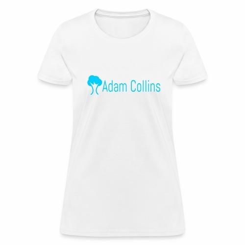 Women's White with logo - Women's T-Shirt