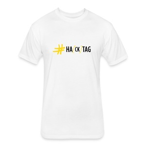 Hacktag Scrawl (on Light) - Fitted Cotton/Poly T-Shirt by Next Level
