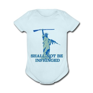 SHALL NOT BE INFRINGED 2 - Short Sleeve Baby Bodysuit