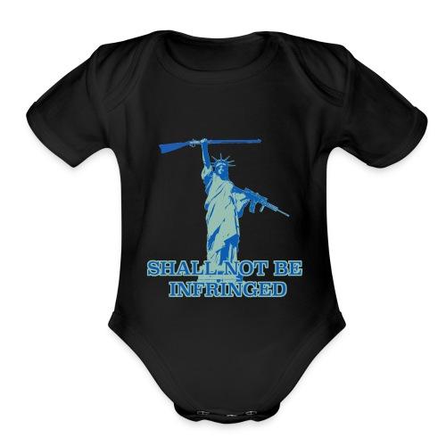 SHALL NOT BE INFRINGED 2 - Organic Short Sleeve Baby Bodysuit