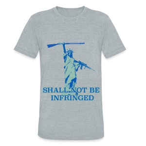 SHALL NOT BE INFRINGED 2 - Unisex Tri-Blend T-Shirt by American Apparel