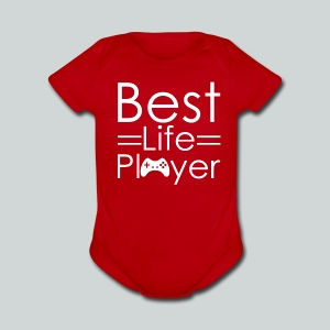 Best Life Player GamefulHeroes Baby  - Short Sleeve Baby Bodysuit