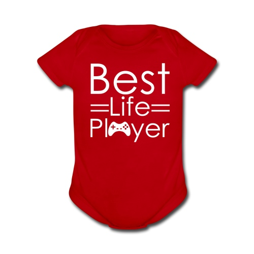 Best Life Player GamefulHeroes Baby  - Organic Short Sleeve Baby Bodysuit