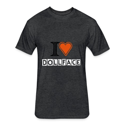 I Heart Dollface - Double Sided - Fitted Cotton/Poly T-Shirt by Next Level