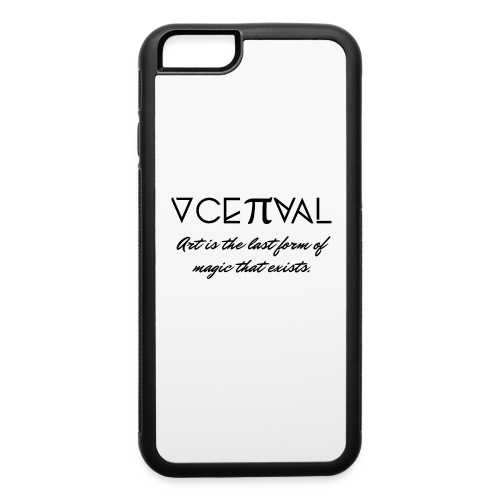 Conceptual Magazine Logo Phone Case with Saying - iPhone 6/6s Rubber Case