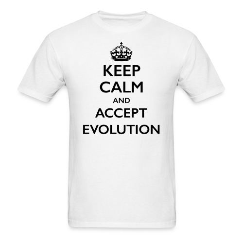 Keep Calm Accept Evolution - Men's T-Shirt