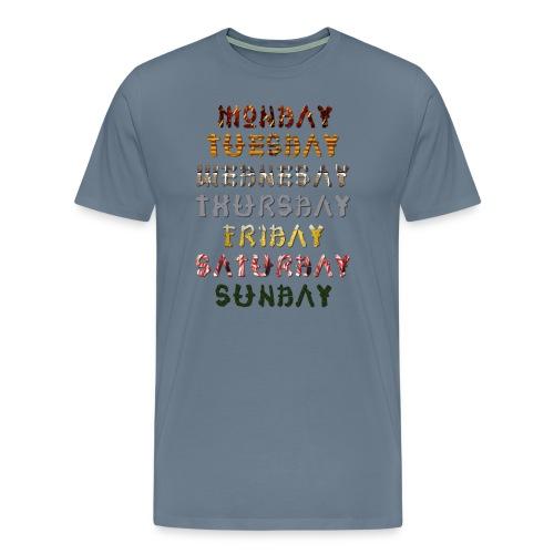 Days Of The Week - Men's Premium T-Shirt