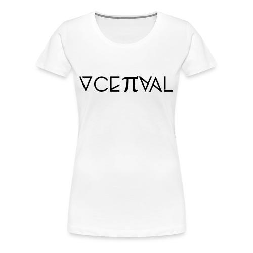 Conceptual Magazine Logo Tee with Saying - Women's - Women's Premium T-Shirt