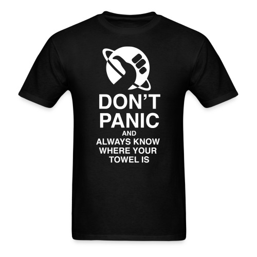 DON'T PANIC WHITE - Men's T-Shirt