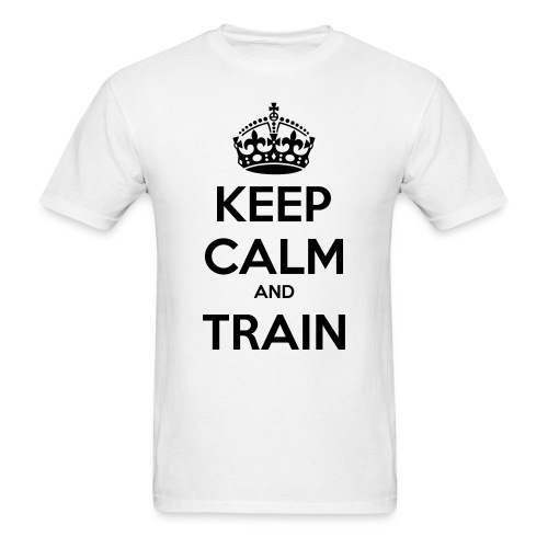 Keep calm and train - Men's T-Shirt