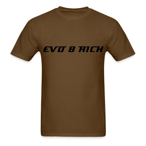 MENS TEE EVO 8 RICH BLACK TEXTS - Men's T-Shirt