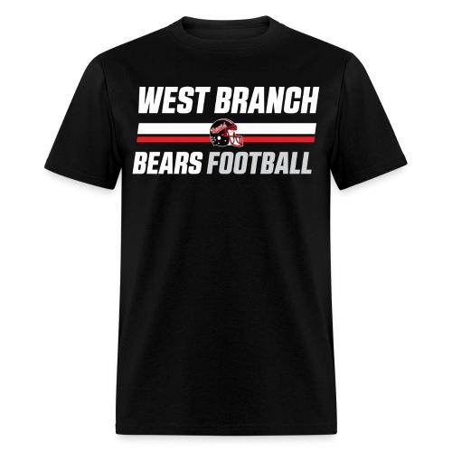Stripes Black T-Shirt - Men's T-Shirt