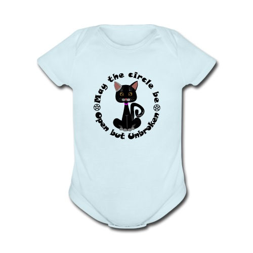 cat's witch Sisi - Organic Short Sleeve Baby Bodysuit