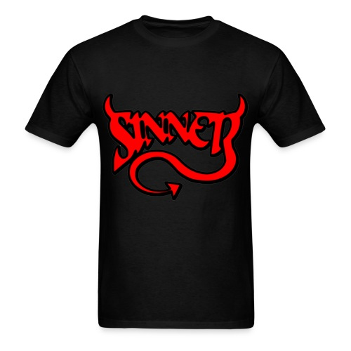 Sinner Black T-Shirt - Men's T-Shirt
