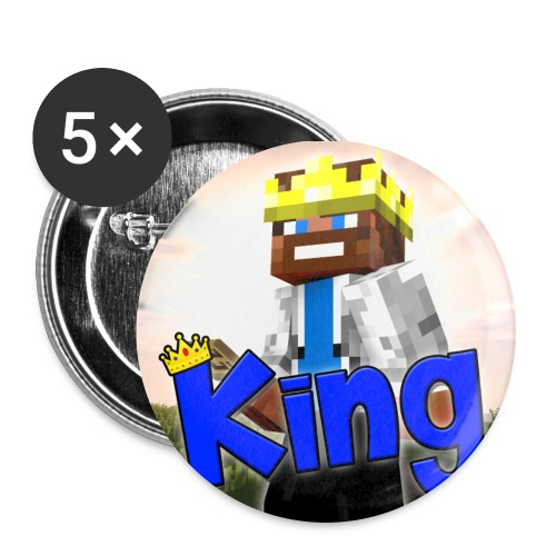 ItzzOnlyKing Minecraft Large Buttons  - Buttons large 2.2'' (5-pack)