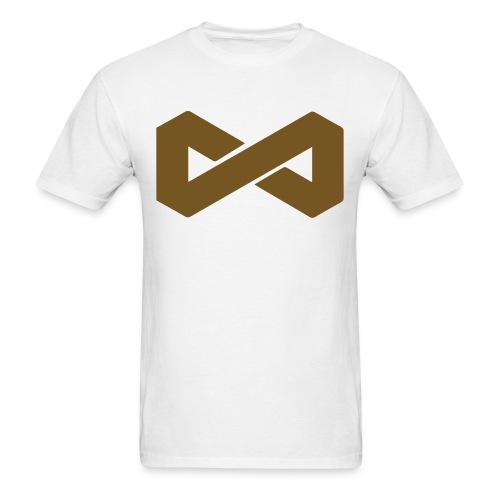 Gold On White Infinite Symbol - Men's T-Shirt