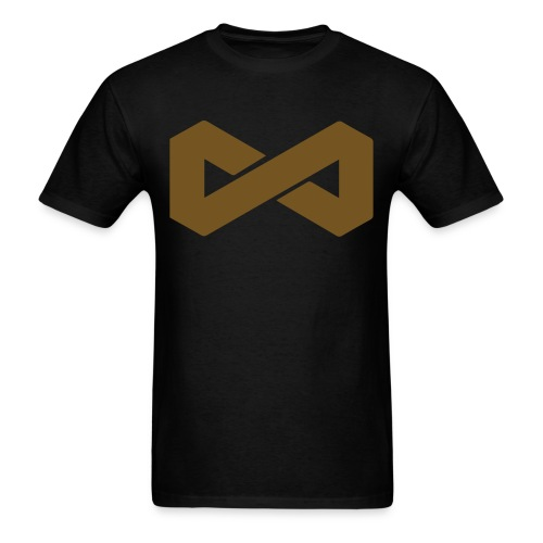 Gold on Black Infinite Symbol - Men's T-Shirt