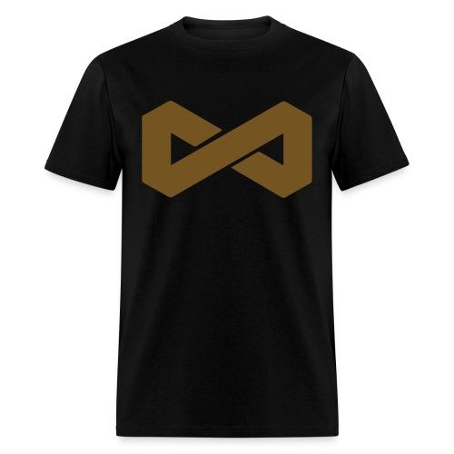 Gold on Black Infinite Symbol - Men's T-Shirt