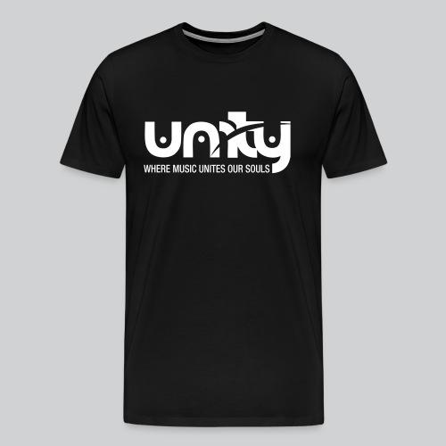 Unity *Official* Men's Premium Crew Neck T-Shirt (White Logo) - Men's Premium T-Shirt