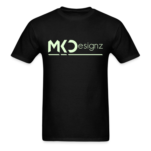 MK Designz Official Shirt (Glowin the Dark) - Men's T-Shirt