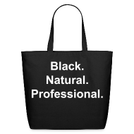 Bags & backpacks ~ Eco-Friendly Cotton Tote ~ Black.Natural.Professional. tote