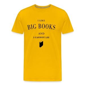 I like big books - Men's Premium T-Shirt