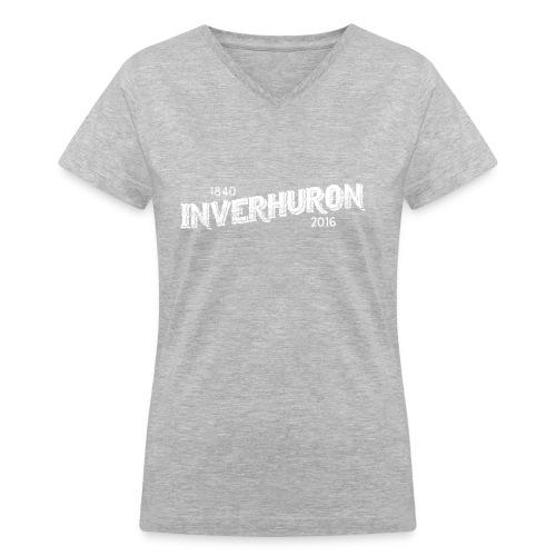 Inverhuron Vintage Logo Ladie's V-neck - Women's V-Neck T-Shirt