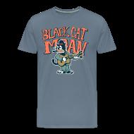 T-Shirts ~ Men's Premium T-Shirt ~ black cat moan