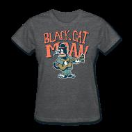 Women's T-Shirts ~ Women's T-Shirt ~ black cat moan