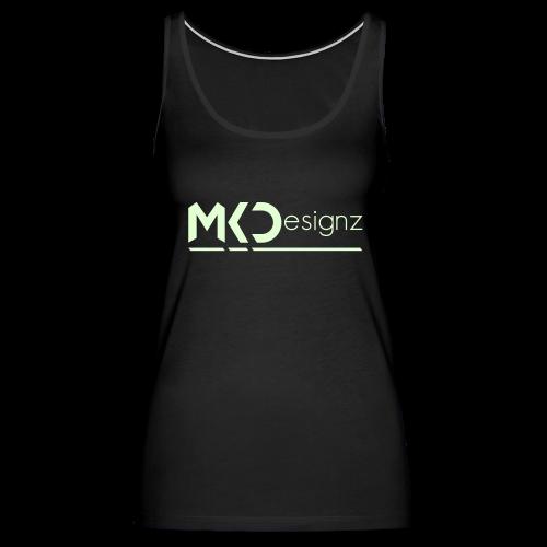 MK Designz Official Shirt (Glowin the Dark) - Women's Premium Tank Top