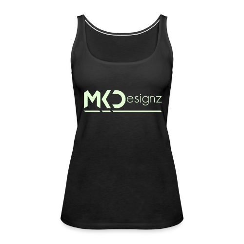 MK Designz Official Shirt (Glowin the Dark) - Women's Premium Tank Top